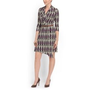 Tart Collections Faux-Wrap Belted Dress Small
